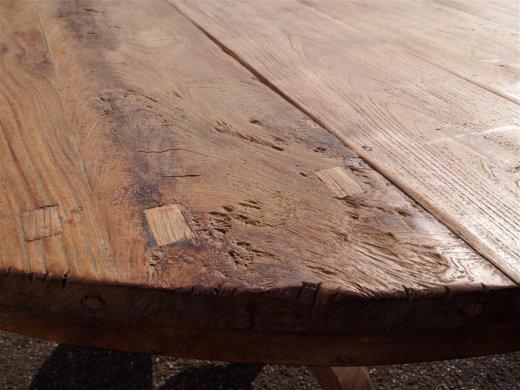 Teak Tisch rund Ø 150 cm altes Holz   - Bild 9