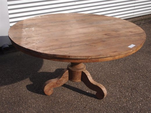Teak Tisch rund Ø 150 cm altes Holz   - Bild 3