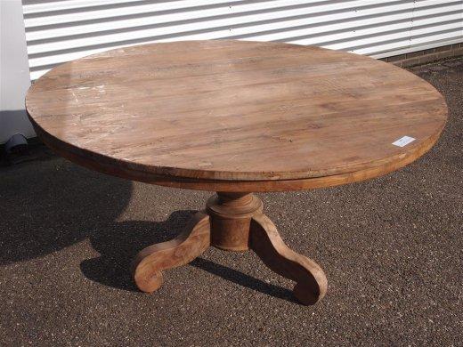 Teak Tisch rund Ø 150 cm altes Holz   - Bild 14