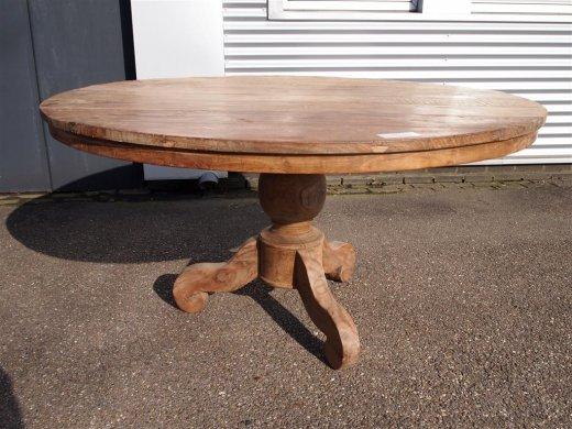 Teak Tisch rund Ø 150 cm altes Holz   - Bild 5