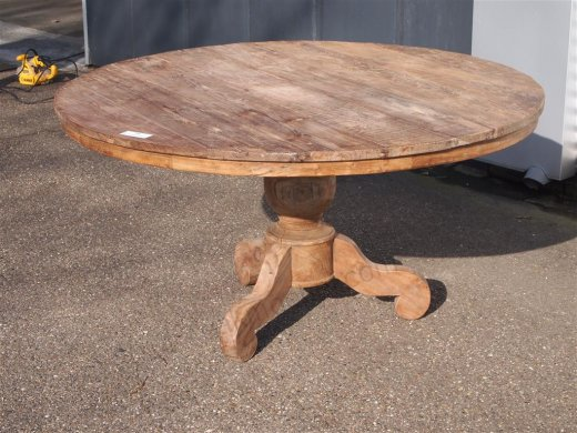 Teak Tisch rund Ø 150 cm altes Holz   - Bild 12