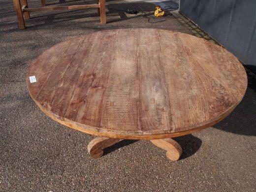 Teak Tisch rund Ø 150 cm altes Holz   - Bild 13