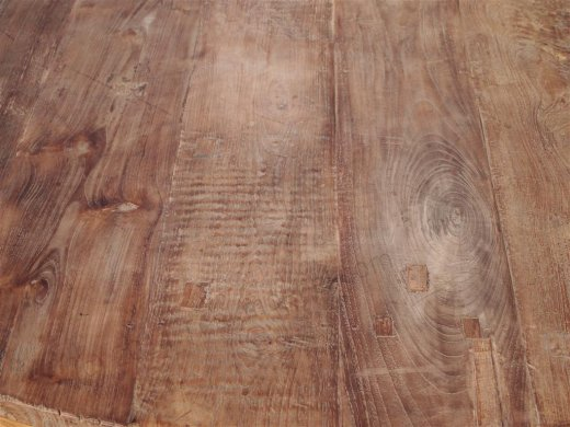 Teak Tisch rund Ø 150 cm altes Holz   - Bild 10