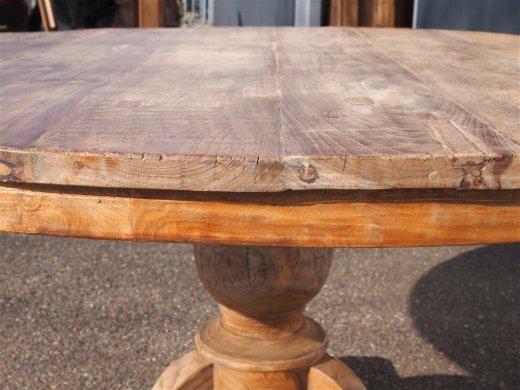Teak Tisch rund Ø 150 cm altes Holz   - Bild 0