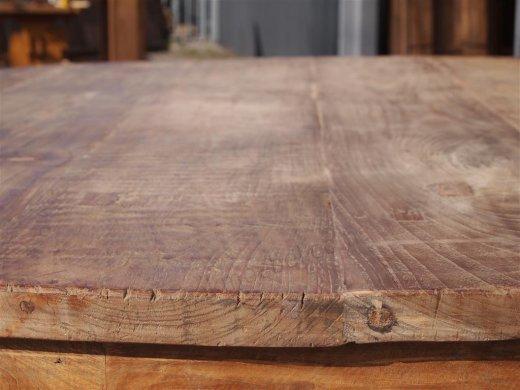 Teak Tisch rund Ø 150 cm altes Holz   - Bild 6