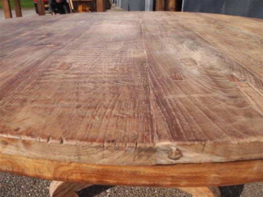 Teak Tisch rund Ø 150 cm altes Holz   - Bild 7