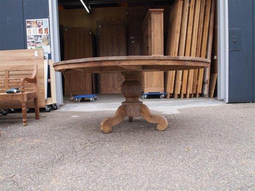 Teak Tisch rund Ø 180 cm altes Holz - Bild 6