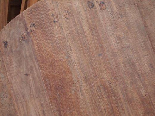 Teak Tisch rund Ø 180 cm altes Holz - Bild 3