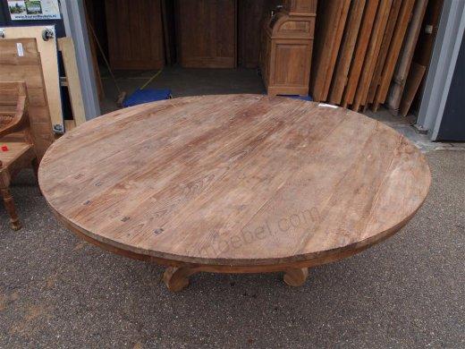 Teak Tisch rund Ø 180 cm altes Holz - Bild 11