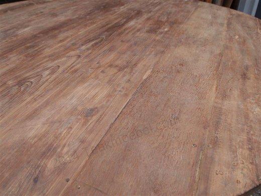 Teak Tisch rund Ø 180 cm altes Holz - Bild 8