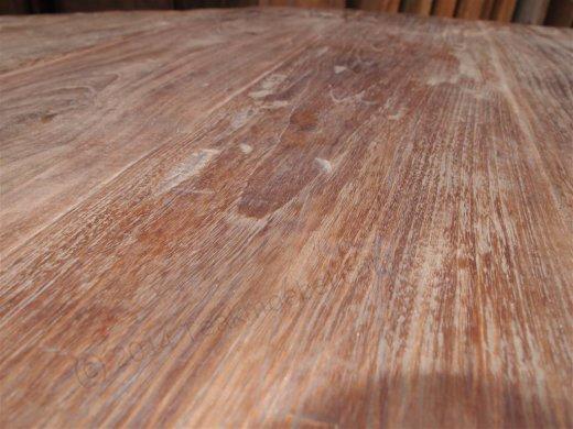 Teak Tisch rund Ø 180 cm altes Holz - Bild 7