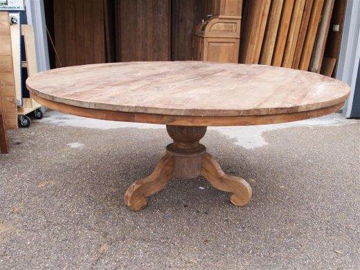 Teak Tisch rund Ø 180 cm altes Holz - Bild 4