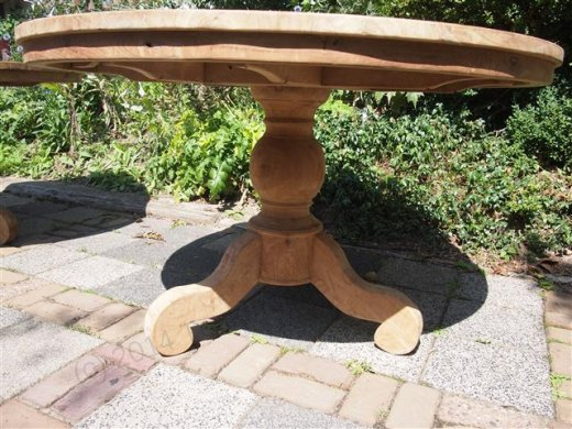 Teak Tisch rund  Ø 130 cm - Bild 1