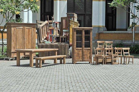 Teak Bank München 225cm - Bild 3