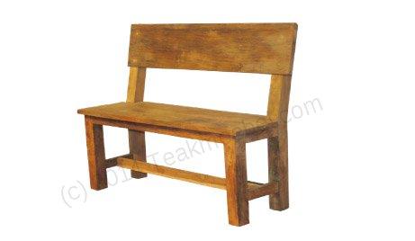 teak bank mit lehne. Black Bedroom Furniture Sets. Home Design Ideas