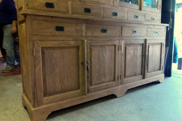 Teak Buffetschrank old brushed 200cm - Bild 4