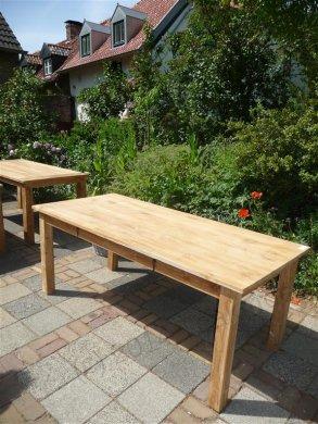 Teak Tisch mit Schubladen 200 x 100 cm - Bild 2