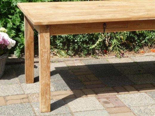 Teak Tisch mit Schubladen 200 x 100 cm - Bild 3