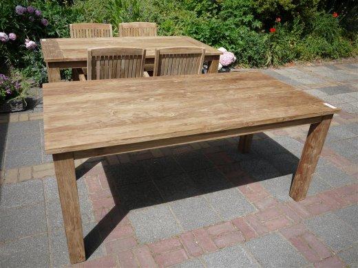 Teak Tisch gebürstet 180 x 90 cm - Bild 1