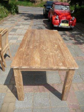 Teak Tisch gebürstet 180 x 90 cm - Bild 2