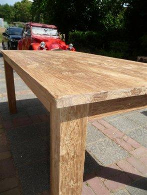 Teak Tisch gebürstet 180 x 90 cm - Bild 3
