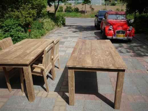 Teak Tisch gebürstet 180 x 90 cm - Bild 4