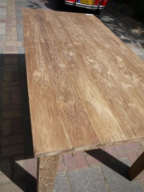 Teak Tisch gebürstet 180 x 90 cm - Bild 5