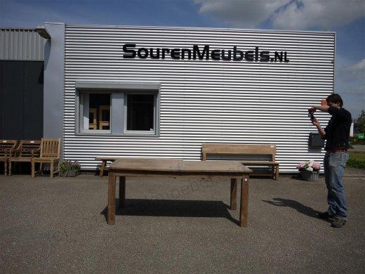 Teak Tisch altes Holz 200 - 250 - 300 x 100 cm ausziehbar - Bild 13