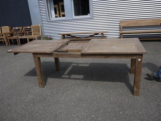Teak Tisch altes Holz 200 - 250 - 300 x 100 cm ausziehbar - Bild 1