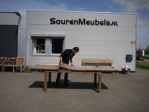Teak Tisch altes Holz 200 - 250 - 300 x 100 cm ausziehbar - Bild 15