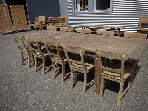 Teak Tisch altes Holz 200 - 250 - 300 x 100 cm ausziehbar - Bild 10