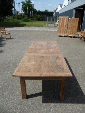 Teak Tisch altes Holz 200 - 250 - 300 x 100 cm ausziehbar - Bild 4