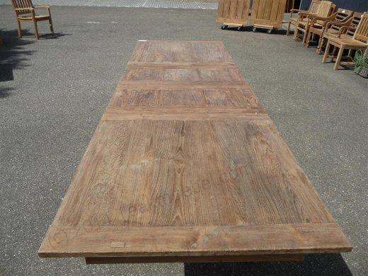 Teak Tisch altes Holz 200 - 250 - 300 x 100 cm ausziehbar - Bild 5