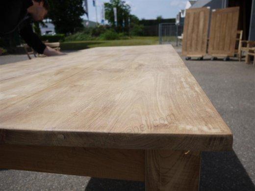 Teak Tisch mit Schubladen 260 x 100 cm - Bild 4