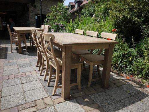 Teak Tisch aus altem Holz 180 x 90 cm - Bild 9