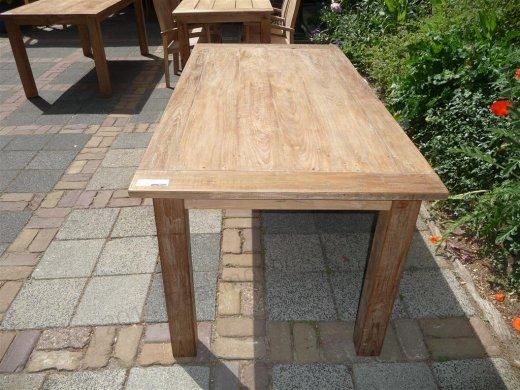 Teak Tisch aus altem Holz 180 x 90 cm - Bild 1