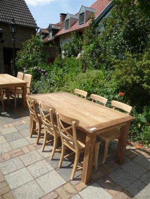 Teak Tisch aus altem Holz 180 x 90 cm - Bild 8