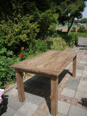 Teak Tisch aus altem Holz 180 x 90 cm - Bild 2
