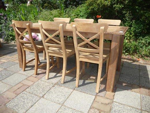 Teak Tisch aus altem Holz 180 x 90 cm - Bild 6