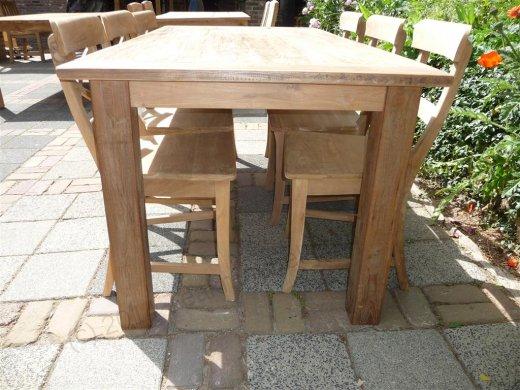 Teak Tisch aus altem Holz 180 x 90 cm - Bild 7
