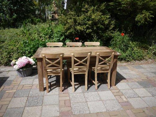 Teak Tisch aus altem Holz 180 x 90 cm - Bild 4