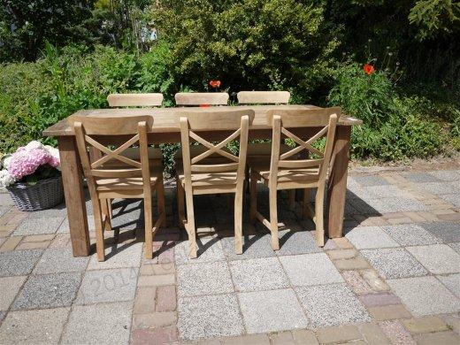 Teak Tisch aus altem Holz 180 x 90 cm - Bild 10