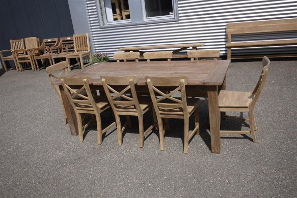Teak Tisch aus altem Holz 200 x 100 cm - Bild 16
