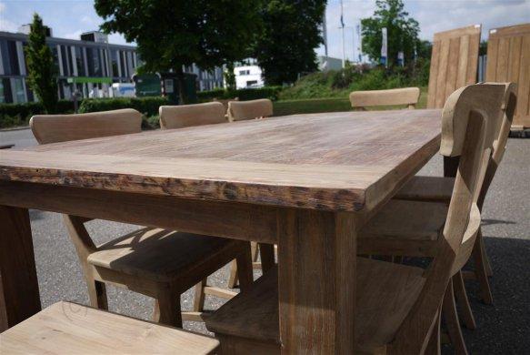 Teak Tisch aus altem Holz 200 x 100 cm - Bild 19