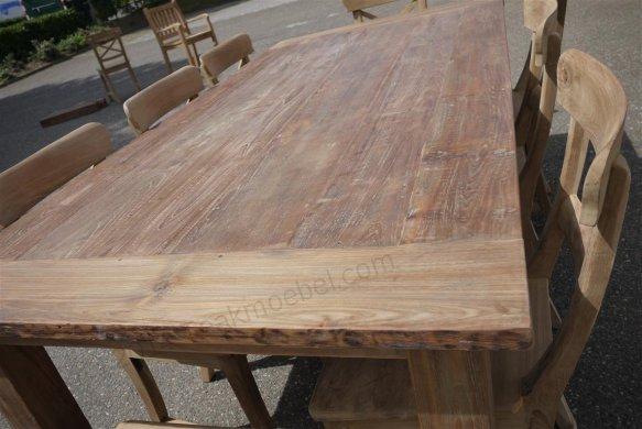 Teak Tisch aus altem Holz 200 x 100 cm - Bild 20