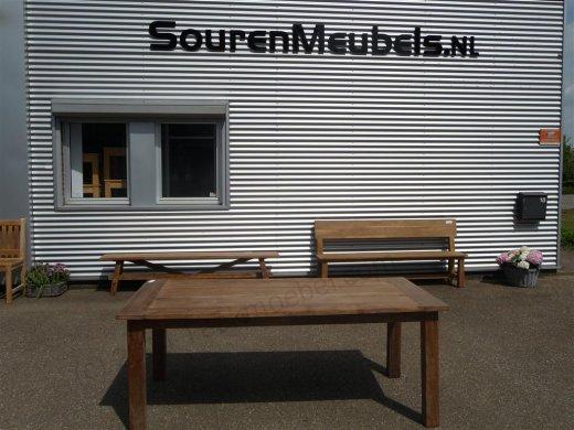 Teak Tisch aus altem Holz 200 x 100 cm - Bild 18