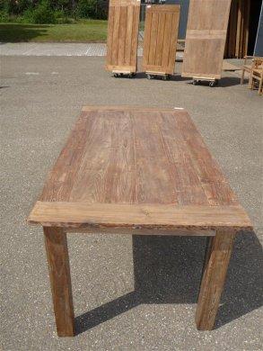 Teak Tisch aus altem Holz 200 x 100 cm - Bild 7