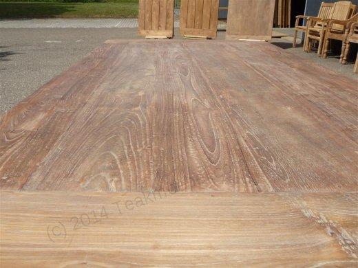 Teak Tisch aus altem Holz 200 x 100 cm - Bild 11