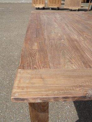 Teak Tisch aus altem Holz 200 x 100 cm - Bild 10