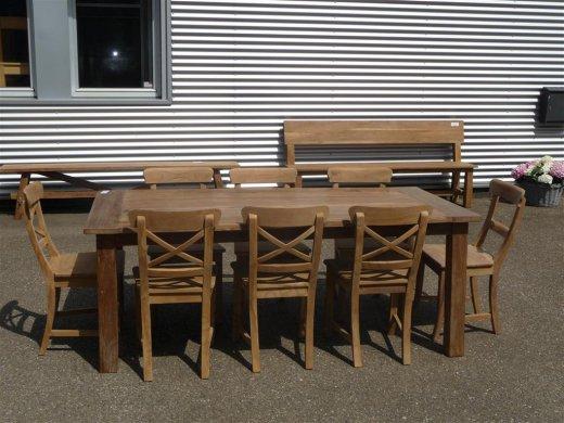 Teak Tisch aus altem Holz 200 x 100 cm - Bild 17